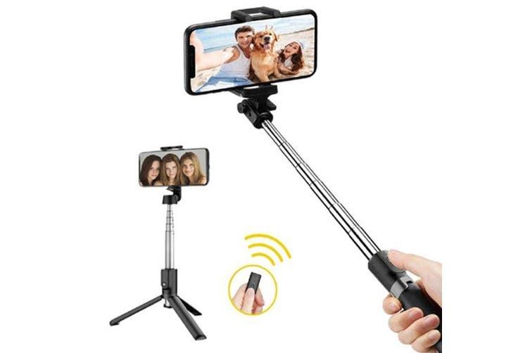 bluetooth rechargeable folding selfie stick. Black Bedroom Furniture Sets. Home Design Ideas