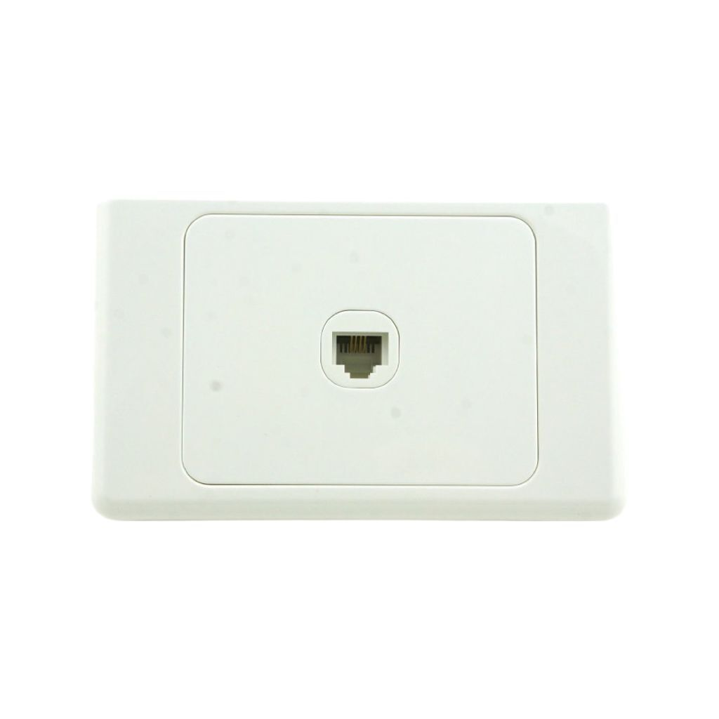 Wall Plate With Telephone Socket