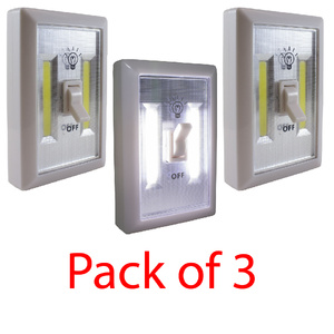 3 Pack Wireless COB LED Light Switch