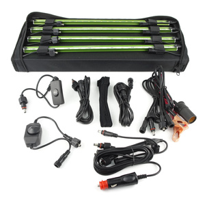 Waterproof 12V 2 x Rigid Aluminium LED Light Bar Kit with Carry Bag