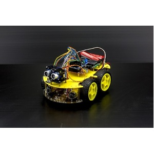 Arduino 4 Wheel Drive with Ultrasonic & Line Tracer Bluetooth Robot Kit