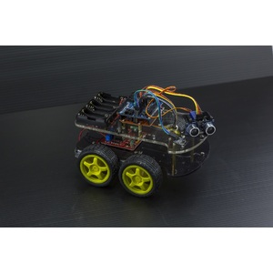 Arduino 4 Wheel Drive with Ultrasonic & Line Tracer Robot Kit