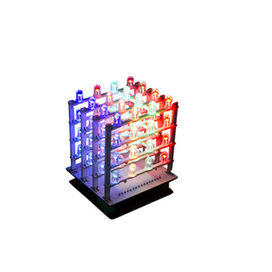Arduino 4 x 4 x 4 RGB LED Light Cube Kit
