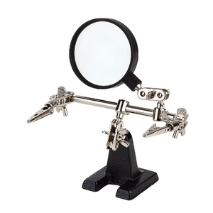 PCB Holder with Magnifier Glass