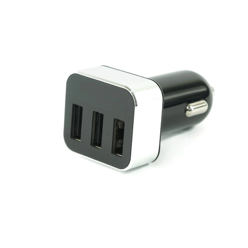 3 Port USB Car Charger with LED Voltage Display