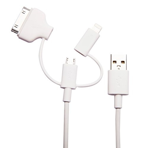 MFi Licensed 3 in 1 Smartphone Charging Cable
