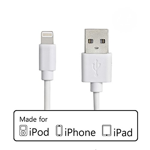 MFi Licensed Apple Lightning USB Cable - White 1m