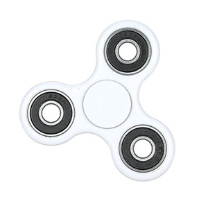 Fidget Hand Finger Spinner Stress Relief Gadget - White
