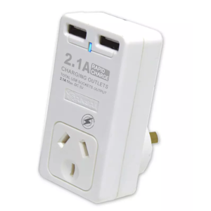 Dual USB Port Mains Charger Adaptor