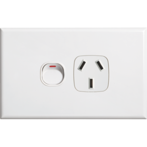 White GPO Single Power Point Socket