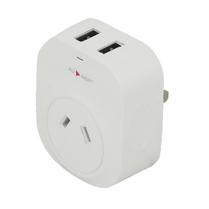 USA and Japan Travel Adapter with 2 USB Charge Ports