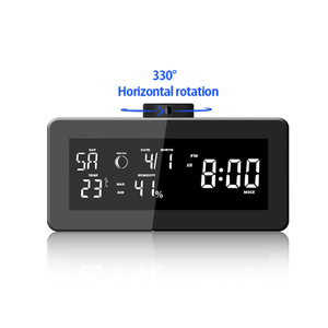 1080P High Definition WiFi Spy Covert Surveillance Camera Weather Station Clock