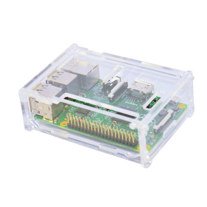 Transparent Acrylic Enclosure Assembly for Raspberry Pi B 3rd Gen