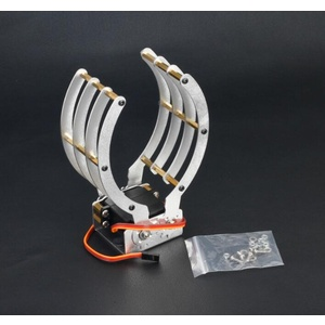 Robot Mechanical Aluminium Clamp/Claw/Grip with Metal Gear Servo for Arduino Projects