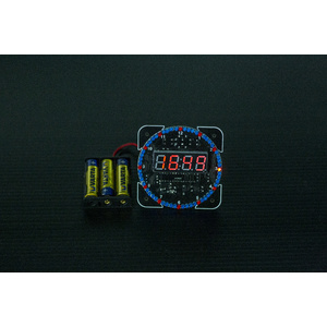 DS1302 Rotating Red LED Digital Clock Timer Module Kit