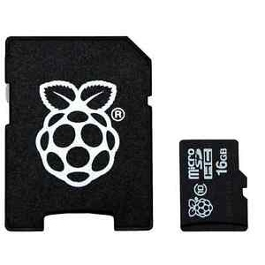 16GB MicroSD Card with NOOBS for Raspberry Pi 3 Model B