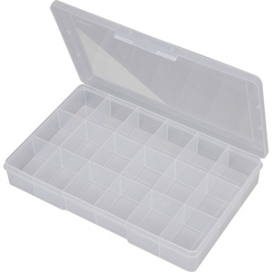 Clear 18 Compartment Storage Box - Large 310x200x48mm
