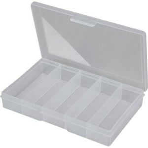 Clear 5 Compartment Storage Box -Small 188x118x31mm