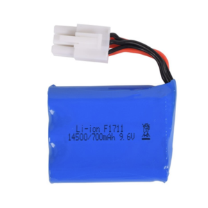 Rechargeable Lithium Battery 9.6V 700mAh with EL-6P Connector