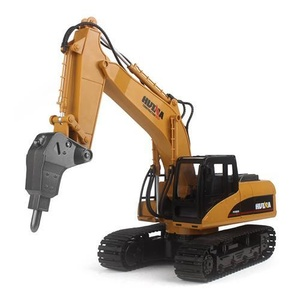 RC Excavator with Drill 1:14 Construction Scale Model