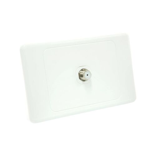 10 x Wall Plate with F Type Pay TV Socket