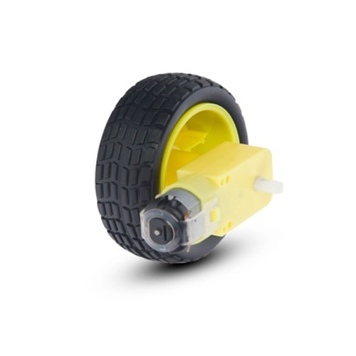 Arduino DC Motor with Wheel and Rubber Tyres
