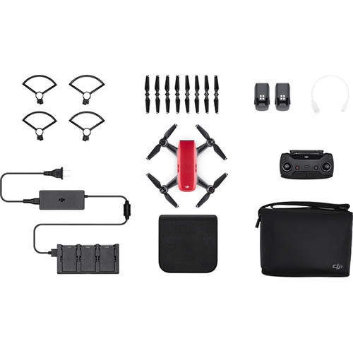 DJI Spark Quadcopter Drone - Lava Red Fly More Combo